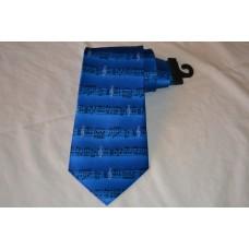 Kravata Robin Ruth modrá noty