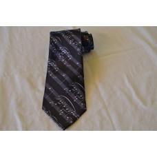 Kravata noty černá