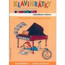 Klavihrátky - s pastelkami u klavíru. přípravný pracovní sešit